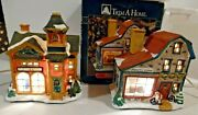 Trim A Home Lighted Christmas Village Pickford School And Finleyand039s Forge Vintage