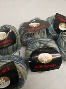 Plymouth Turino 100 Silk Yarn Lot Italian Collection Variegated Colors Blue11