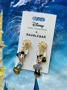 2021 Disney Parks 50th Celebration Mickey And Minnie Earrings By Baublebar New