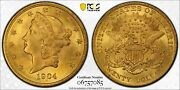 1904 20 Liberty Double Eagle Gold Coin - Pcgs Ms63 - Pcgs 06757085 Gold Shield