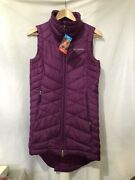 Womens Columbia Long Omni Heat Insulated Vest Jacket Purple Size S New W/tags