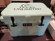 Yeti Tundra 35 Seafoam Ducks Unlimited Cooler Rare Hard To Find Collectable