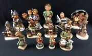 Lot Of 14 Vintage Hummel Goebel Porcelain Figurines. All In Perfect Condition.
