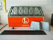Lionel 6-12772 Bridge W/flasher And Piers Has Been Salt Weathered