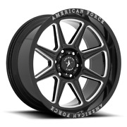 4 22x10 Black American Force Ac002 Trail Wheels Rims 6x135 Ford Expedition F150