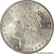 1878 Morgan Silver Dollar 7tf Rev Of 1879 Pcgs Ms64 - White Excellent Luster