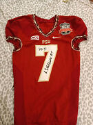 Kermit Whitfield Fsu Bcs National Championship Game Used Signed Jersey