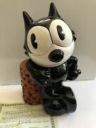 Vintage Felix The Cat Cookie Jar...limited Edition 1000.....1998....new In Box