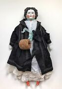 A Large Antique Vintage Collectible Porcelain Dressed And Decorated Doll
