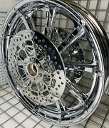 Indian Chief Classic Chrome Front Wheel 19 And Rotors 2015 -21 Mag Rims Outright
