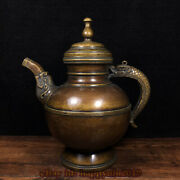 Old Chinese Handmade Copper Wine Pot Teapot Rare Collectible Decoration T1810286