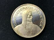 1982 Switzerland 5 Franc Coin Proof  Mintage 10k  Rare World Coin  C738