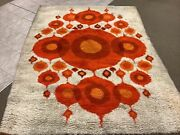 Real Big Mid Century Danish Modern Wilton Rya Rug 67andrdquo By 90andrdquo Iconic Dirty As Is
