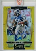 2020 Panini Honors Of 2016 Select Barry Sanders 1 Of 1