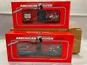 American Flyer S Gauge 48483 Boys Railroad Club And 48484 Crossing Gate Boxcars