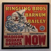 Ringling Bros Barnum And Bailey Circus Poster Happy Clown By Bill Bailey 1945