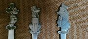 Disney Children's Spoons And Fork, Stainless Steel, Very Good Condition, By Bonny
