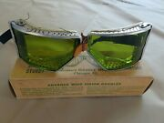 Vintage Advance Goggles No. 311 Aviation Racer Motorcycle Car Racing With Box