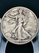 1933-s 50c Walking Liberty Half Dollar Better Date Silver Us Collectible Coin