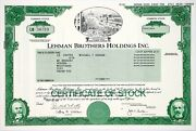 Rare Lehman Brothers Holdings Inc. Stock Certificate - 2008 - Nyse