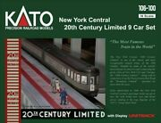 Kato 106100 New 2021 New York Central 20th Century Limited 9 Car Set N Scale