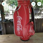 Vintage Vinyl Coca Cola Carry Golf Bag - Red And White - Large, Coke