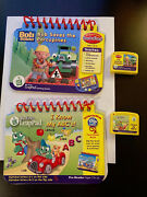 Lot Of 2 Leap Frog My First Leap Pad Game Cartridges Books - Bob Builder - Abc