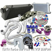 T3/t4 Turbo Kit And Oil Cooler Kits Fit For Vw Golf Jetta Gti 1.8t 98-05 Bolt On