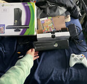 Microsoft Xbox 360 Slim Matte Black Console 250gb With Kinect And Accessories