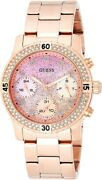 Guess Confetti Ladies Watch With Glitter Dial And Rose Gold Bracelet W0774l3