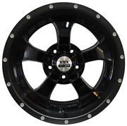 Black Mountain Gloss Black Alloy Wheel And Tyre Package - Jeep Wrangler Set Of 5