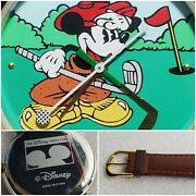 Vintage Exclusive Disney Credit Card Mickey Mouse Golf Watch Like New
