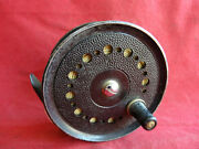 A Vintage 3 1/2 J W Young Condex Medium Width Light Salmon Fly Reel
