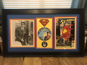 Christopher Reeve Signed Superman Custom Pictured Autograph With 1993 Comic Rare