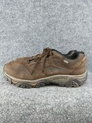 Merrell Mens Size 11 Wide Moab Adventure Lace Hiking Shoes Brown Suede