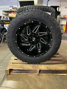 20x10 Vision Spyder Black Wheels 33 Fuel At Tires 8x170 Ford Excursion F350