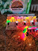 Vintage Christmas 8 Bubble Lights Noma Bubble Lights In Box Working+6 Replaceme