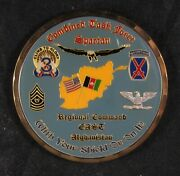 Combined Task Force Spartan Regional Command East Afghanistan Challenge Coin
