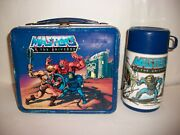 Vintage He-man Masters Of The Universe Metal Lunchbox W/ Thermos Aladdin 1983