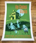"""Disney Haunted Mansion Shag Hand Signed 2001 Giclee Poster Coolest Ghouls 19x29"""""""
