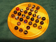 Vintage Marble Solitaire Game Large 11 Board Large 25mm 1 Marbles