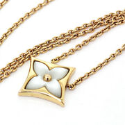 Louis Vuitton Monogram Star Nacre Pg Mother Of Pearl Necklace Q93521 Boxed