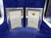 Pjb England Sterling Silver Double Hinged 7 X 5 Folding Picture Frame Monogram