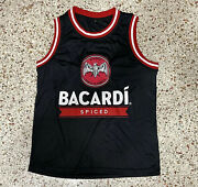 Bacardi 20 Alcohol Rum Tank Top Jersey Tee Shirt Mens Adult S Black Red White