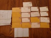 Civil War Letters 19 Total 17 With Envelopes And Cancelled Scott 64 Pink Stamps