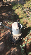 Vintage Galvanized Metal Watering Can Old Antique Sprinkle Head Farmhouse  Fs