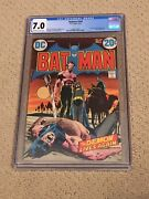 Batman 244 Cgc 7.0 Ow/white Pages Ras Al Ghul Cover By Neal Adams + Magnet