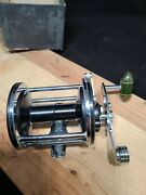 1960's Vintage Penn No155 Casting Reel Great Condition Green Handle Comes W Box