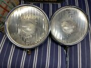 1929 Nos Buick Matched Pair Headlights Excellent Original Condition Etched Lens