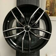 20 Voss Black Machine Staggered Rims Wheels Fits Ford Mustang